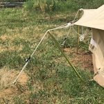 Short Guy Rope Pole for canvas bell tents