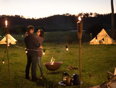 Doctor Doctor Channel 9 TV series Glamping Episode 4 Breathe Bell Tents, glamping movement gaining momentum here in Australia