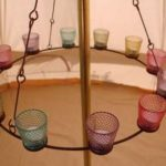 Coloured Glass Chandelier Limited quantity available