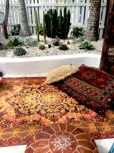 Amber Magic Carpet, picnic blanket, picnic rug, glamping accessory, bell tent, persian rug, natural canvas, small for easy transportation, bell tent accessory, bell tent rug, camping rug, glamping rug, Breathe bell Tents, wandering folk