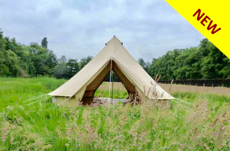 5m Double Door Bell Tent Canvas Tent